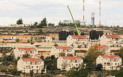 The West Bank settlement of Beit El, north of Ramallah on November 27, 2012. (Oren Nahshon/FLASH90)