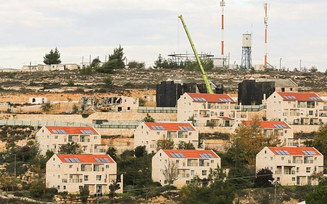The West Bank settlement of Beit El, north of Ramallah on November 27, 2012. (Oren Nahshon/FLASH90)