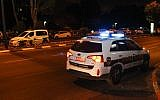 Illustrative: An Israel Police patrol car. (Moti Karelitz/Flash90)