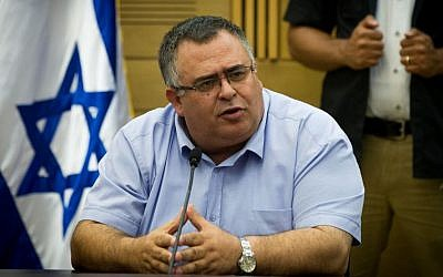 Coalition Chairman David Bitan during a Likud faction meeting in the Knesset on July 11, 2016 (Miriam Alster/FLASH90)
