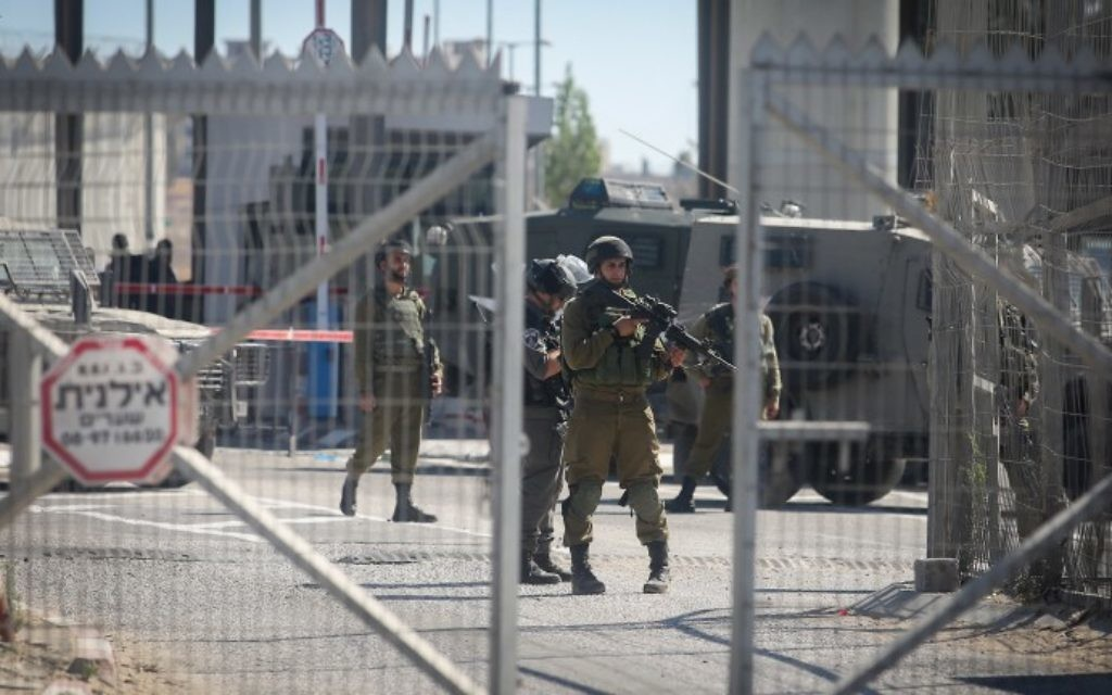 IDF to shutter West Bank, Gaza crossings to Palestinians for Purim holiday