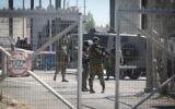 Illustrative. Israeli security forces guard at the Qalandiya Checkpoint near Ramallah, on July 26, 2016. (Flash90)