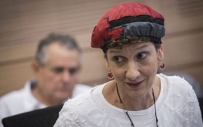 Jewish Home MK Shuli Moalem-Refaeli during a Knesset committee meeting, August 16, 2016. (Hadas Parush/Flash90)