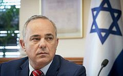Minister of National Infrastructure, Energy and Water Resources Yuval Steinitz Yuval Steinitz seen at the weekly cabinet meeting at the Prime Minister's Office in Jerusalem, September 27, 2016. (Marc Israel Sellem/POOL)