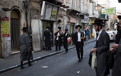 Illustrative photo of the ultra-Orthodox neighborhood of Mea Shearim in Jerusalem on October 13, 2016. (Sebi Berens/Flash90)