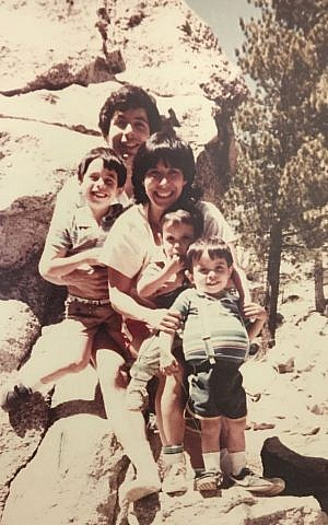 Old family photo of Brian Berman, front, whose stomach is distended from Gaucher's disease. (Courtesy Brian Berman)