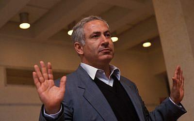 Benjamin Netanyahu in Katzrin, Israel, March 21, 1993. (Esaias Baitel/Gamma-Rapho via Getty Images)