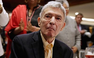Jack Greenberg receiving a standing ovation from the audience at the NAACP Legal Defense Fund's luncheon in Washington, D.C., to commemorate the Supreme Court's 1954 Brown v. Board of Education decision, May 16, 2014. (Chip Somodevilla/Getty Images)