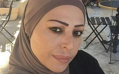 Howaida Shawa, 45, a resident of Jaffa, was found beaten to death in a car in the central West Bank on October 23, 2016. Her husband sustained light injuries in what he told police was a robbery. (Courtesy)