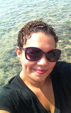 US Air Force veteran Bibiana Narcissa at Capernaum, August 2016 (Courtesy)