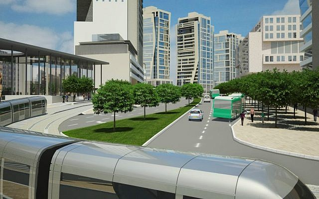 Illustration of underground street in the Jerusalem Gateway project (Dagan Advanced Visual Solutions)