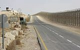 Israel's border with Egypt's Sinai Peninsula. (Judah Ari Gross/Times of Israel)