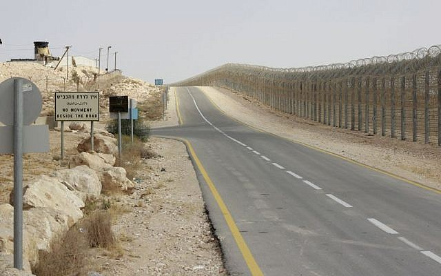 Israel's border with Egypt's Sinai Peninsula. (Judah Ari Gross/Times of Israel)
