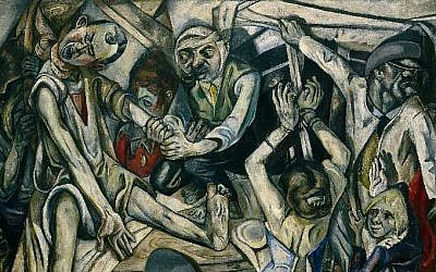 "Max Beckmann painting ""The Night,"" 1918-19, from Kunstsammlung Nordrhein-Westfalen, Düsseldorf. (Wikipedia/public domain)"