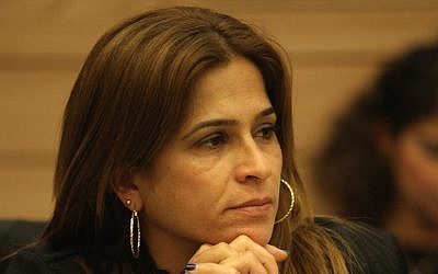 Meirav Ben-Ami attending a session of Israel's Knesset. (Knesset Spokesperson)
