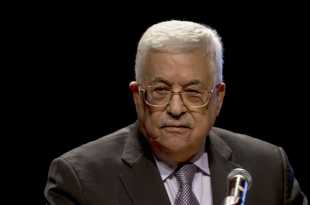 Palestinian Authority President Mahmoud Abbas, speaks during a conference in the West Bank City of Bethlehem, October 1, 2016. (AP/Majdi Mohammed)