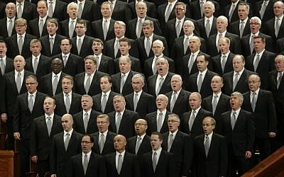 In this April 2, 2016, file photo, the Mormon Tabernacle Choir performs during the opening session of the two-day Mormon church conference in Salt Lake City, Utah. (AP Photo/Rick Bowmer, File)
