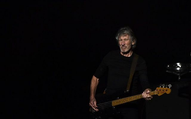 English singer and songwriter Roger Waters performs during a concert in Mexico City, on October 1, 2016. (Ronaldo Schemidt/AFP)
