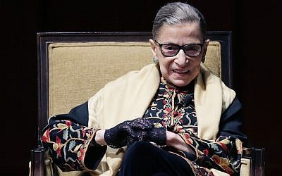 Ruth Bader Ginsburg at the University of Michigan in Ann Arbor, Michigan, Feb. 6, 2015. (Carlos Osorio/AP Images)