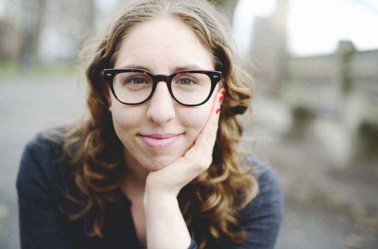 Sandy Fox, 27, started a podcast in Yiddish to create a space for Yiddish-speaking women to share their creative work. (Courtesy Sandy Fox/JTA)