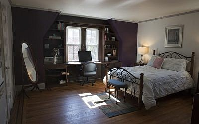 A bedroom in the house where President Donald Trump spent his early childhood in the Jamaica Estates neighborhood of the Queens borough of New York, on October 18, 2016. (AP Photo/Mary Altaffer)