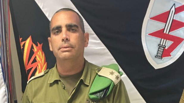 Lt. Col. Yaniv Nimni, commander of Tzameret Battalion (Courtesy IDF Spokesperson's Unit)