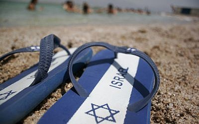 The Yiddish word for 'flip-flops' was coined by Rukhl Schaechter, editor of the Yiddish Forverts, who as a child called them 'fingershikh.' (Melanie Fidler/Flash90)