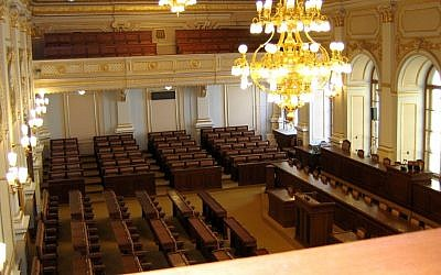 The Chamber of Deputies of the Parliament of the Czech Republic (CC BY-SA Ervinpospisil, Wikipedia)