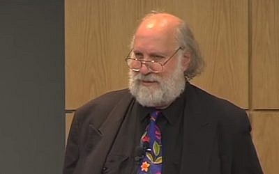 Professor Cary Nelson of the University of Illinois (YouTube screen capture)
