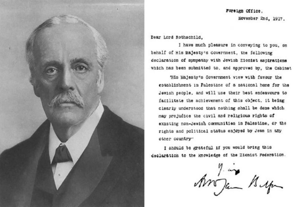 The Balfour Declaration (Wikipedia)