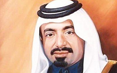 A painting of former emir of Qatar Khalifa bin Hamad Al-Thani.  (Doha News)