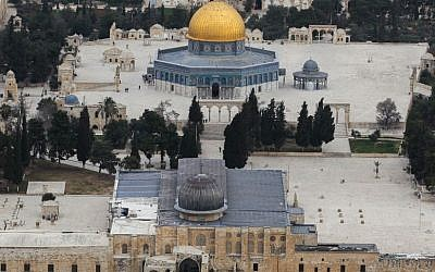 Aerial view of the Temple Mount  (Nati Shohat/Flash90)