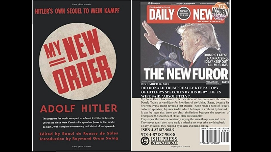 "Image result for Hitler's Book ""My New Order"""