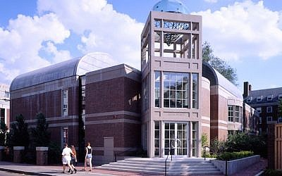 The Harvard Hillel, Rosovsky Hall in Harvard Square, was designed by Moshe Safdie. (Courtesy of Safdie Architects/via JTA)