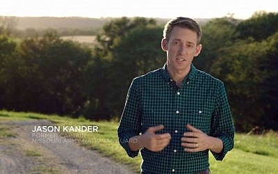 Missouri Senate candidate Jason Kander, a Democrat, seen in a campaign ad, October 2016. (YouTube screen capture)