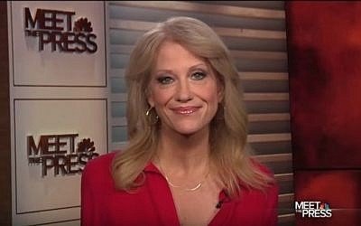 "Donald Trump's campaign manager Kellyanne Conway speaks to NBC's ""Meet the Press"" on October 23, 2016. (screen capture: YouTube)"