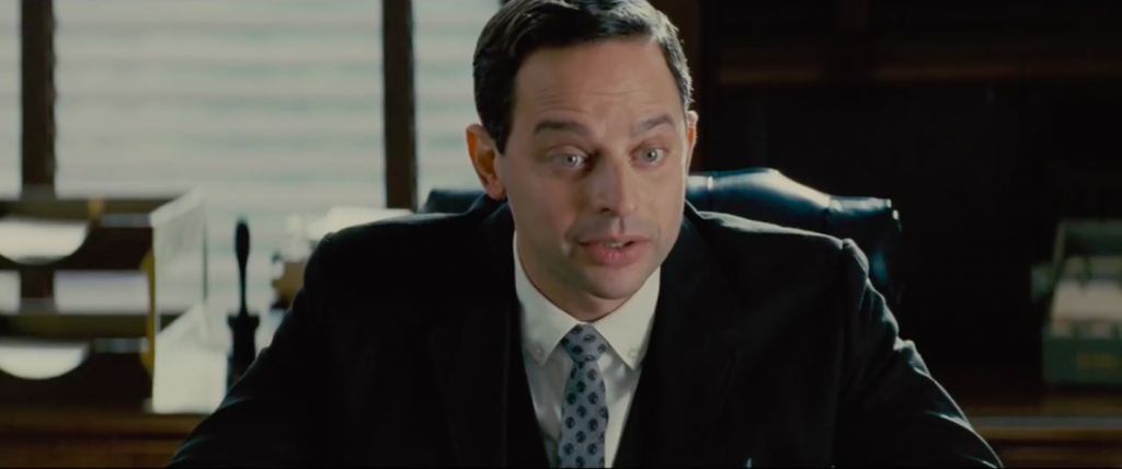 Nick Kroll plays lawyer Bernard Cohen, part comic-relief, part shyster, all stereotype. (Focus Features)