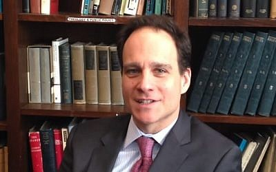 Rabbi Jonah Pesner, director of the Reform movement's Religious Action Center (Screen capture: YouTube)