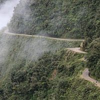 "The Yungas Road in Bolivia, commonly known as the ""Road of Death."" (Alex Proimos)"