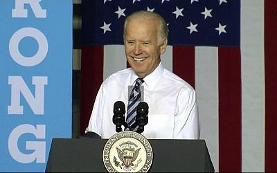 Vice President Joe Biden speaking at a Clinton rally in Dayton, Ohio on May 24, 2016 (screen capture: C-Span)