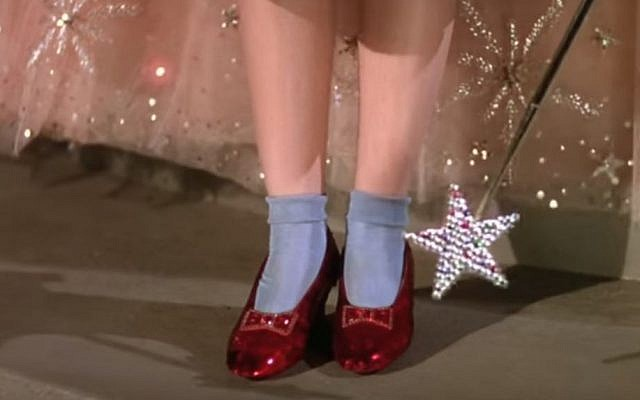 """Ruby slippers from """"The Wizard of Oz"""" (Screen capture: YouTube)"""
