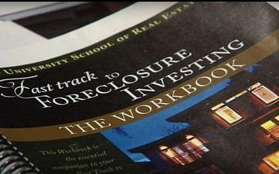 A Trump University workbook (YouTube screenshot)
