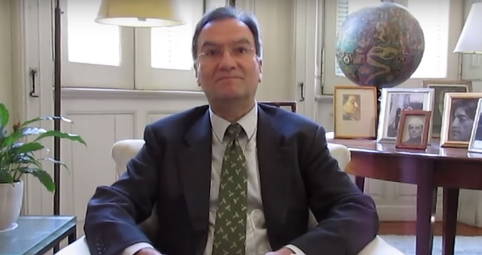 Michael Worbs, the chairman of UNESCO Executive Board (screen capture: YouTube)