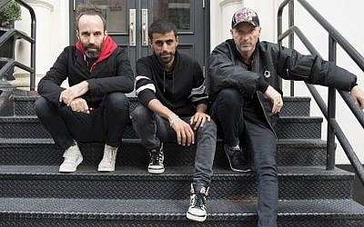 Balkan Beat Box pose for a photo after an interview with AFP in New York on October 26, 2016. (AFP/Angela Weiss)
