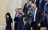 Saad Hariri leaves the Lebanese parliament after a session to elect a new president on October 31, 2016 in downtown Beirut. (AFP Photo/Joseph Eid)