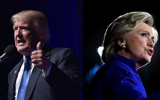 Republican presidential nominee Donald Trump and Democratic presidential nominee Hillary Clinton on November 7, 2016 (MANDEL NGAN, JEWEL SAMAD / AFP)