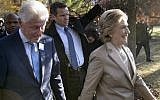 Former US President Bill Clinton and Democratic presidential nominee Hillary Clinton leave after voting at Douglas G. Griffin School November 8, 2016 in Chappaqua, New York. (AFP PHOTO / Brendan Smialowski)