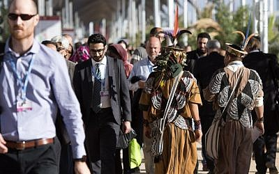 Delegates attend the COP22 international climate conference on November 9, 2016, in Marrakesh. (AFP/Fadel Senna)
