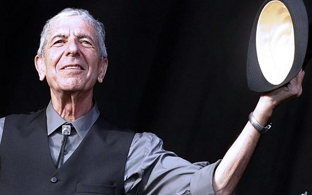 This file photo taken on July 20, 2008 shows Canadian singer Leonard Cohen greeting the public during the international Festival of Beincassim. (AFP/Diego Tuson)