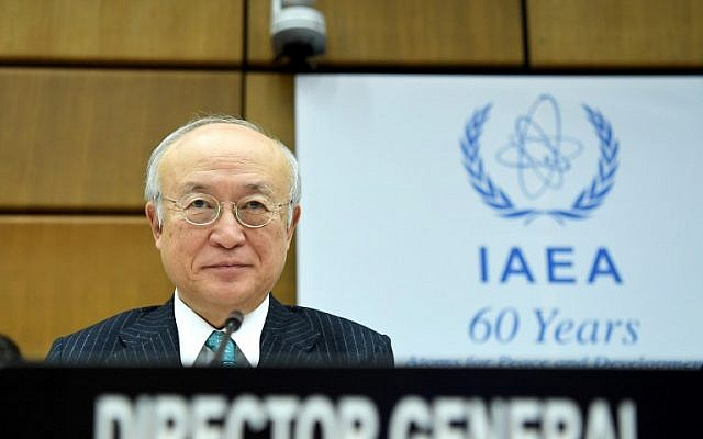 Yukiya Amano, Director General of the International Atomic Energy Agency (IAEA), pictured prior to a session of the IAEA Board of Governors in Vienna, November 17, 2016. (AFP/APA/ROLAND SCHLAGER)